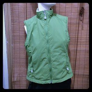L. L. Bean women's small lined green vest